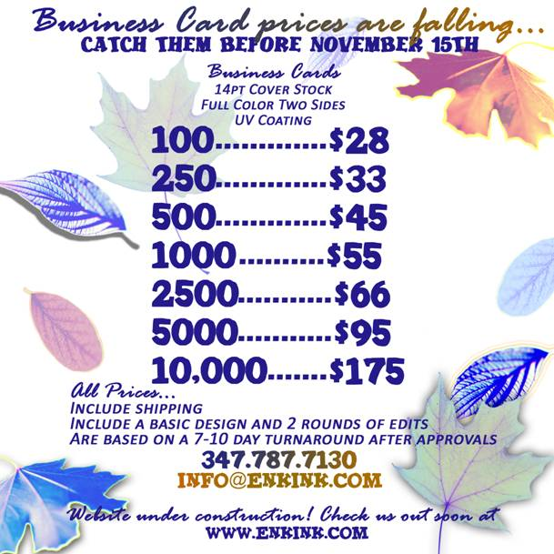 Fall Specials Promotion